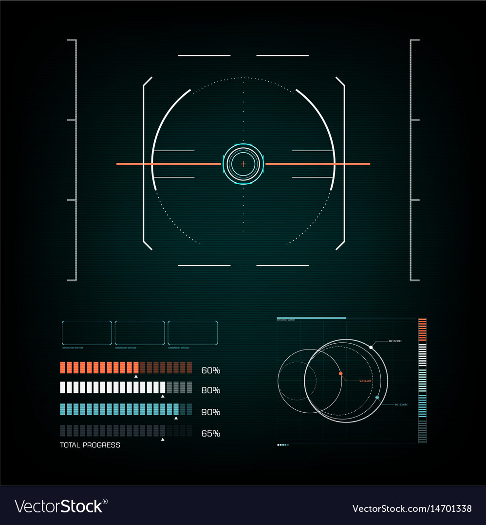 Radar interface future vector image