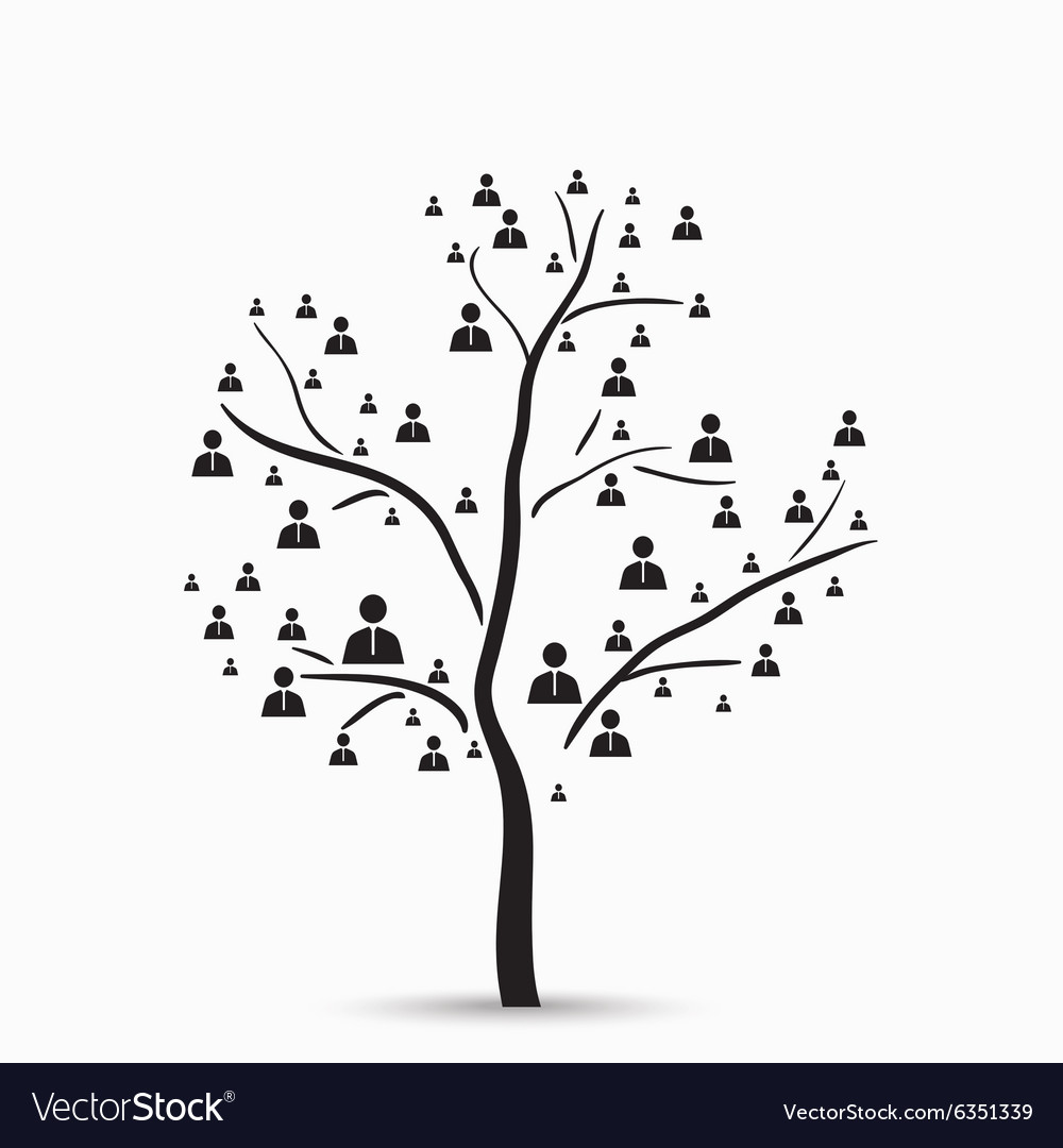 Tree with human vector image
