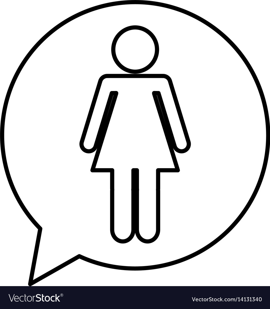 Speech bubble with woman avatar figure silhouette vector image speech bubble with woman avatar figure silhouette vector image biocorpaavc Gallery