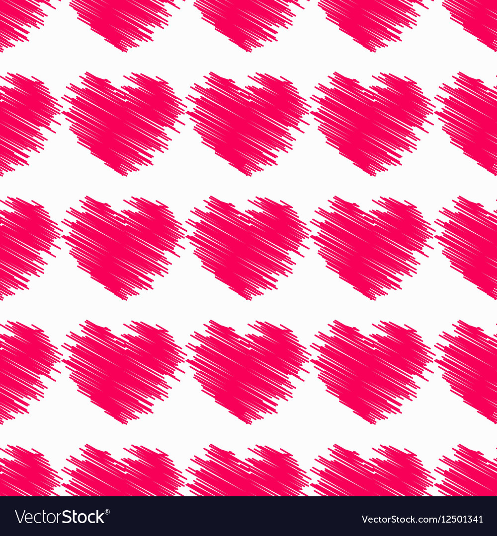 Heart Seamless pattern Valentine s Day vector image