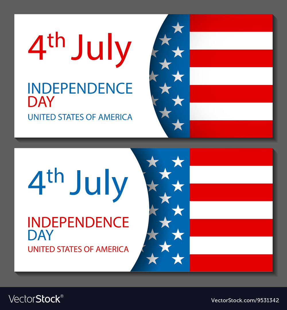 - United States Flag Glossy usa flag set vector image