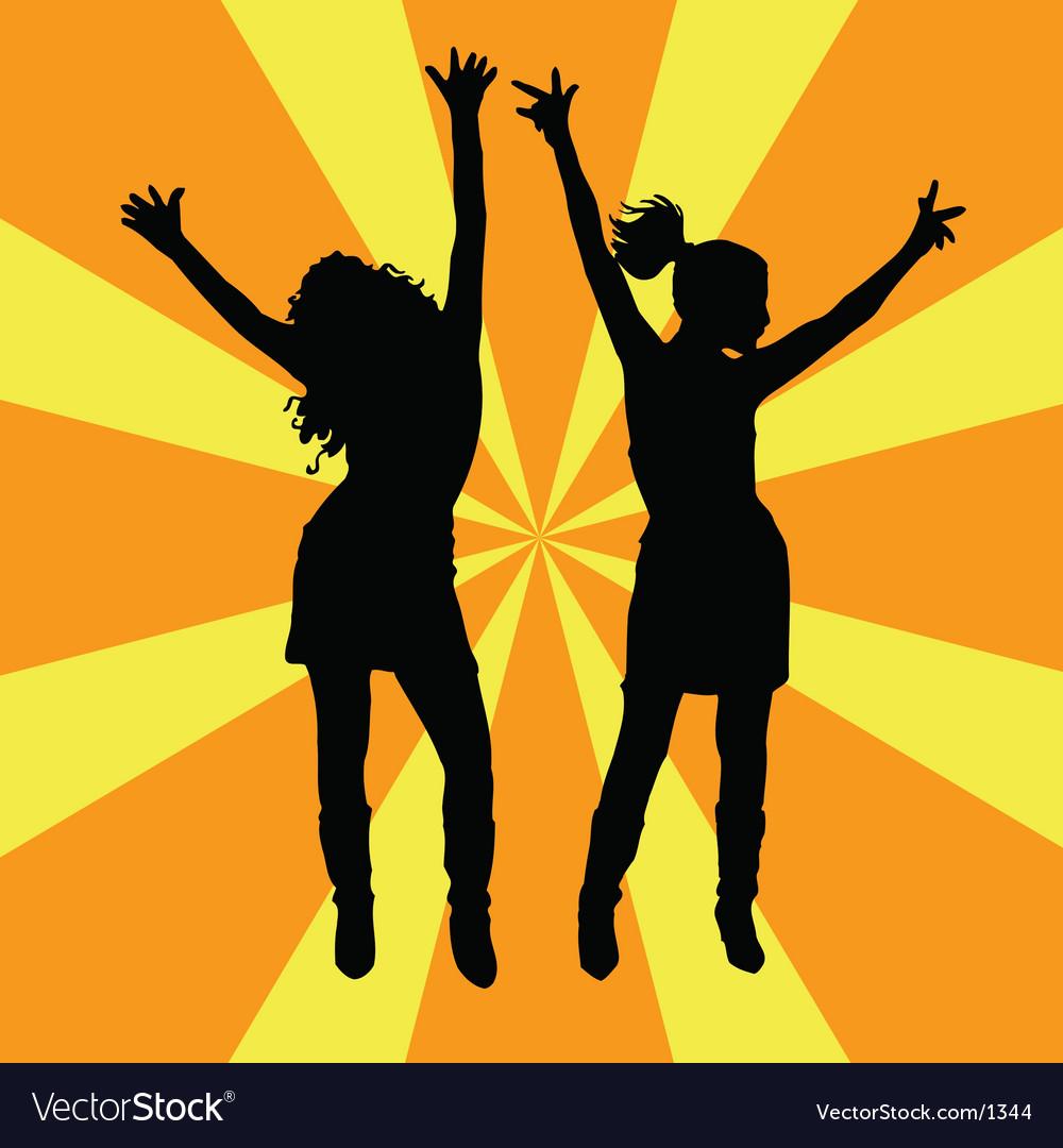 Everybody dance vector image