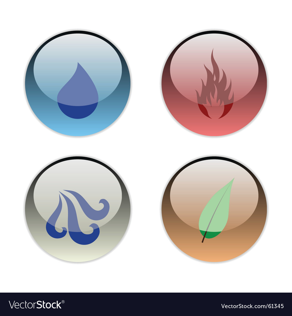 The four elements vector image