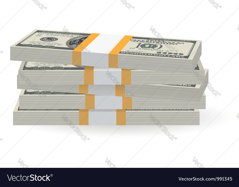Banknotes stack vector image