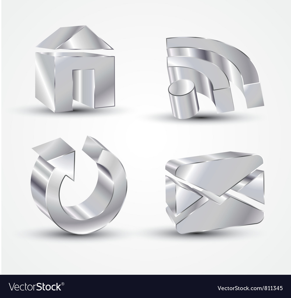 Chrome icons vector image