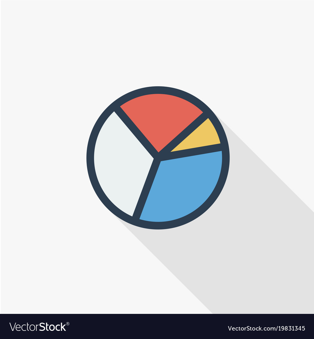 Graph chart pie diagram thin line flat color icon vector image nvjuhfo Images