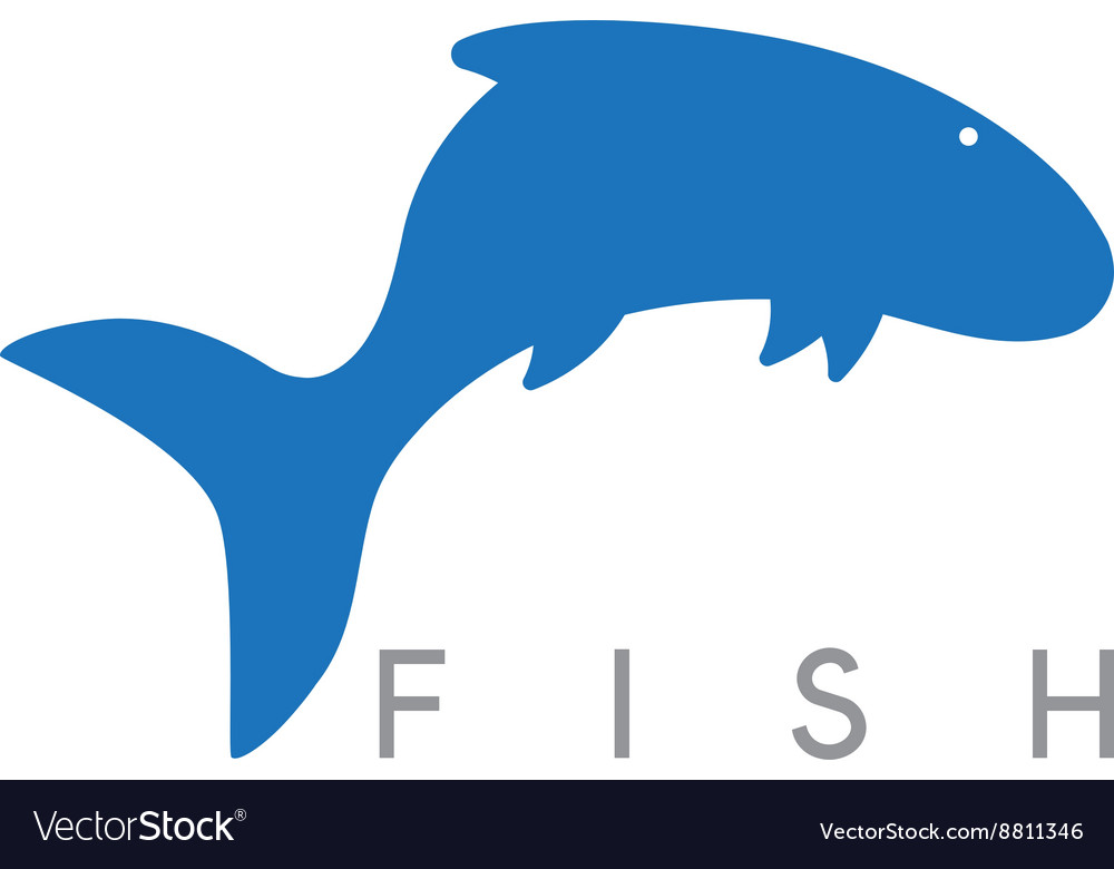 Abstract design template of jumping fish vector image