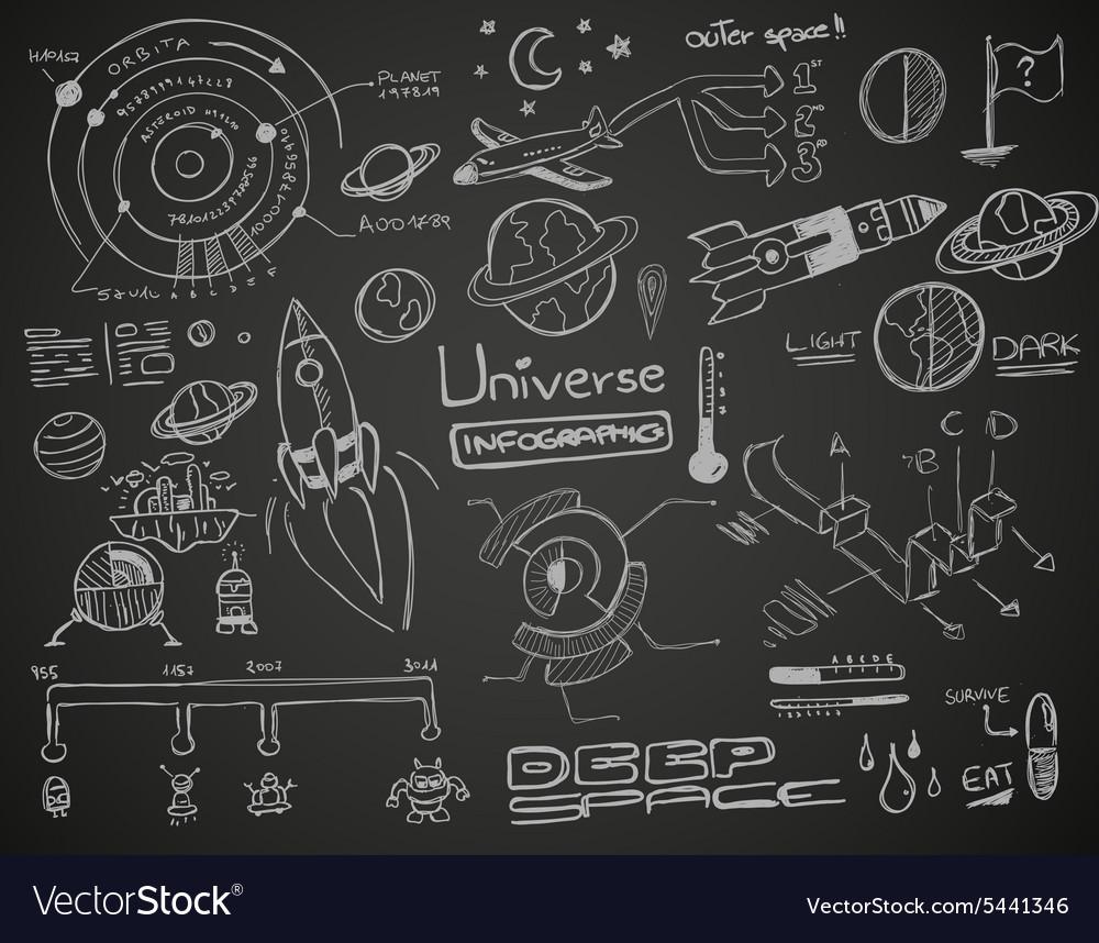 Universe Infographics Black vector image