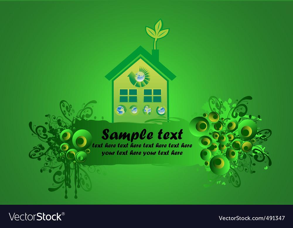 Environmental building vector image