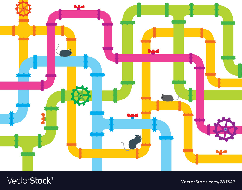 Background pipe vector image