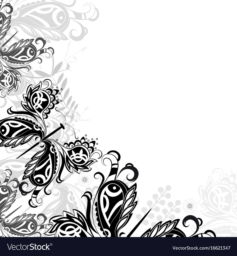 Background with abstract butterflie vector image