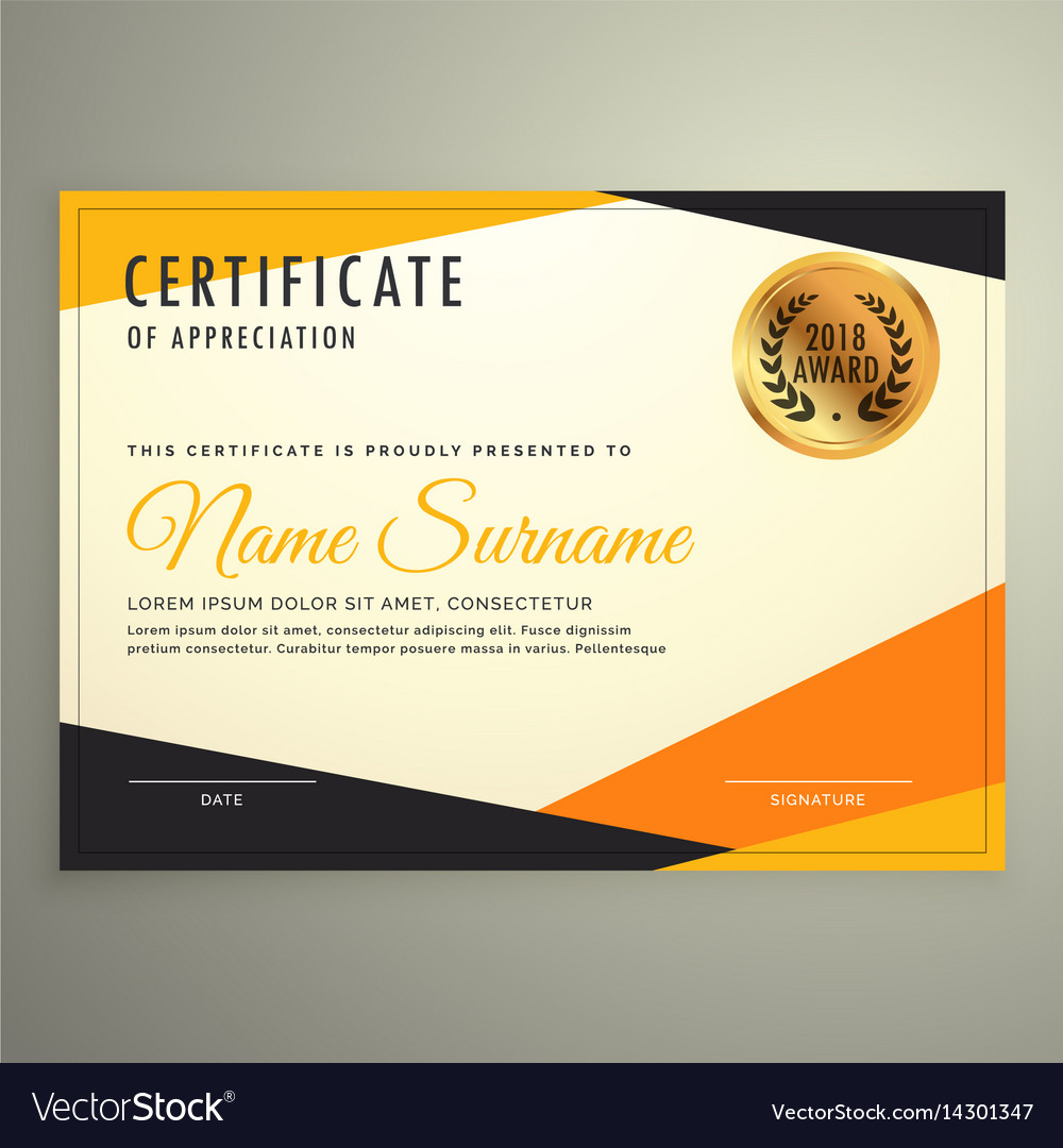 Certificate design template with clean modern vector image certificate design template with clean modern vector image alramifo Images