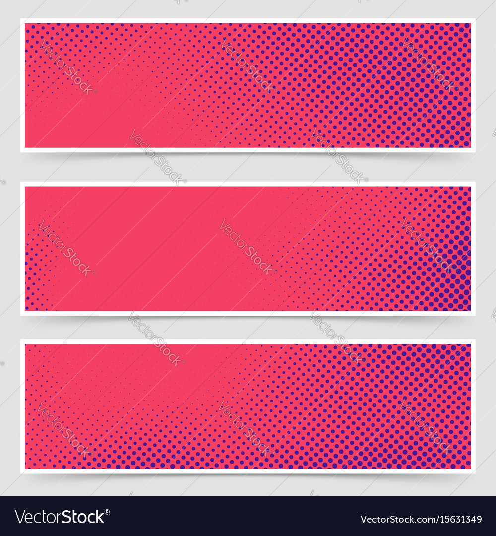 Dotted pop art retro style bright header vector image