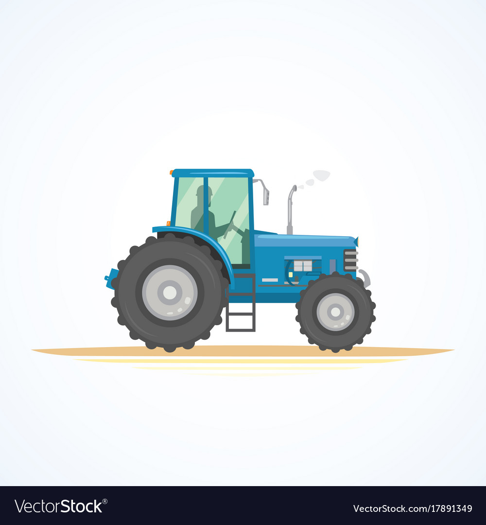 Farm tractor icon heavy vector image