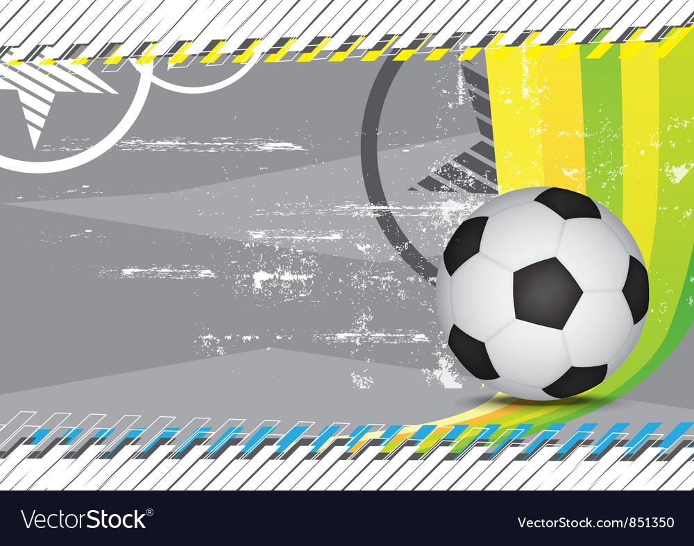 Grunge soccer design background vector image