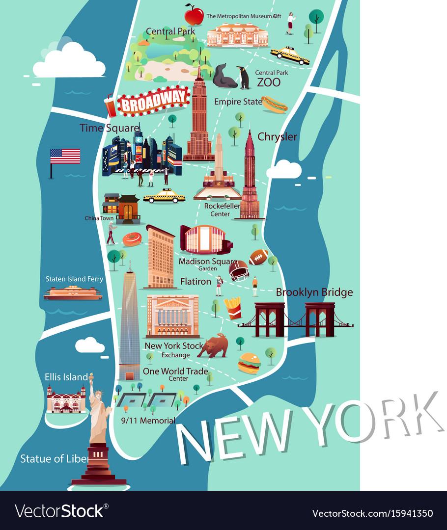 Google Map Manhattan Island