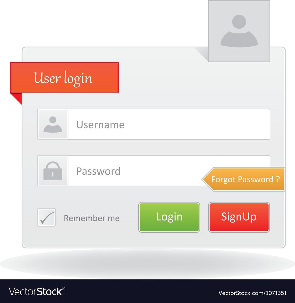 User Login vector image