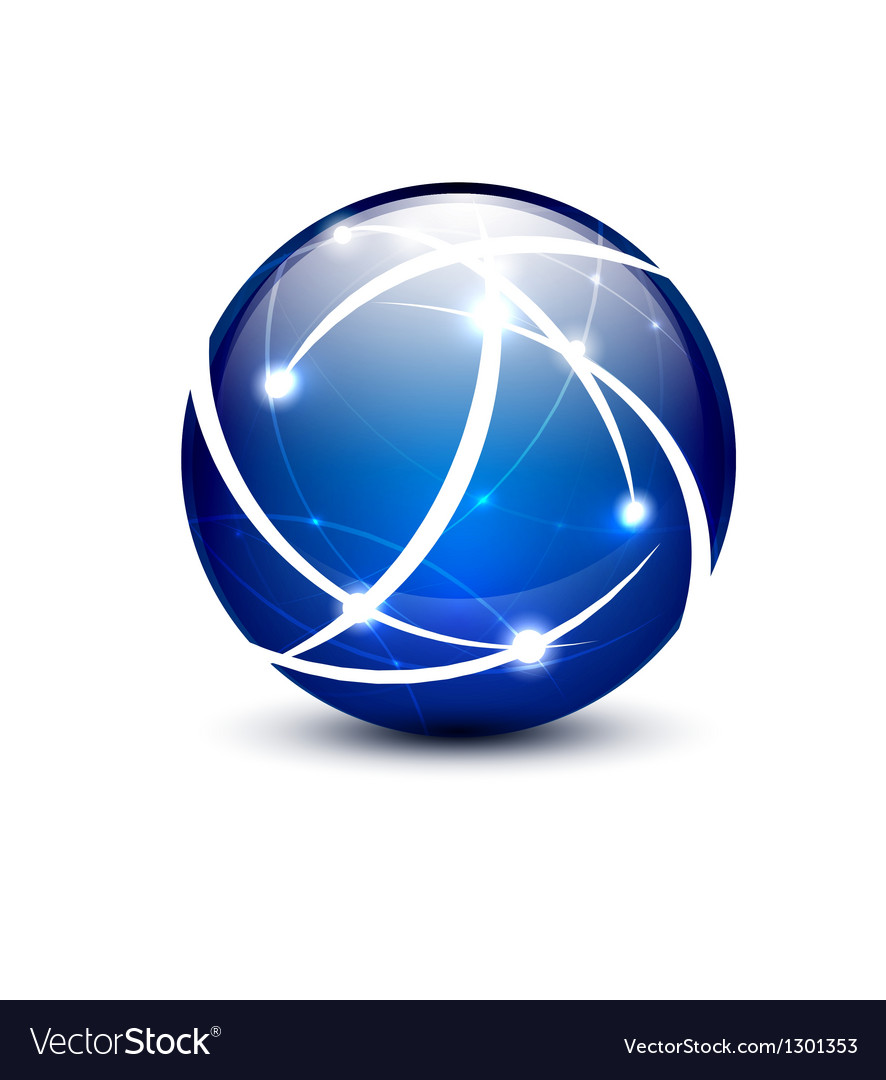 Communication globe icon concept vector image