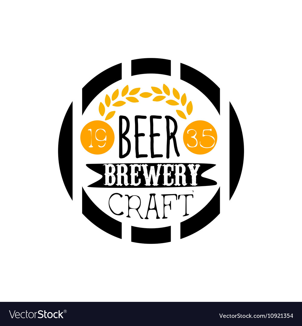 Beer Brewery Logo Design Template vector image