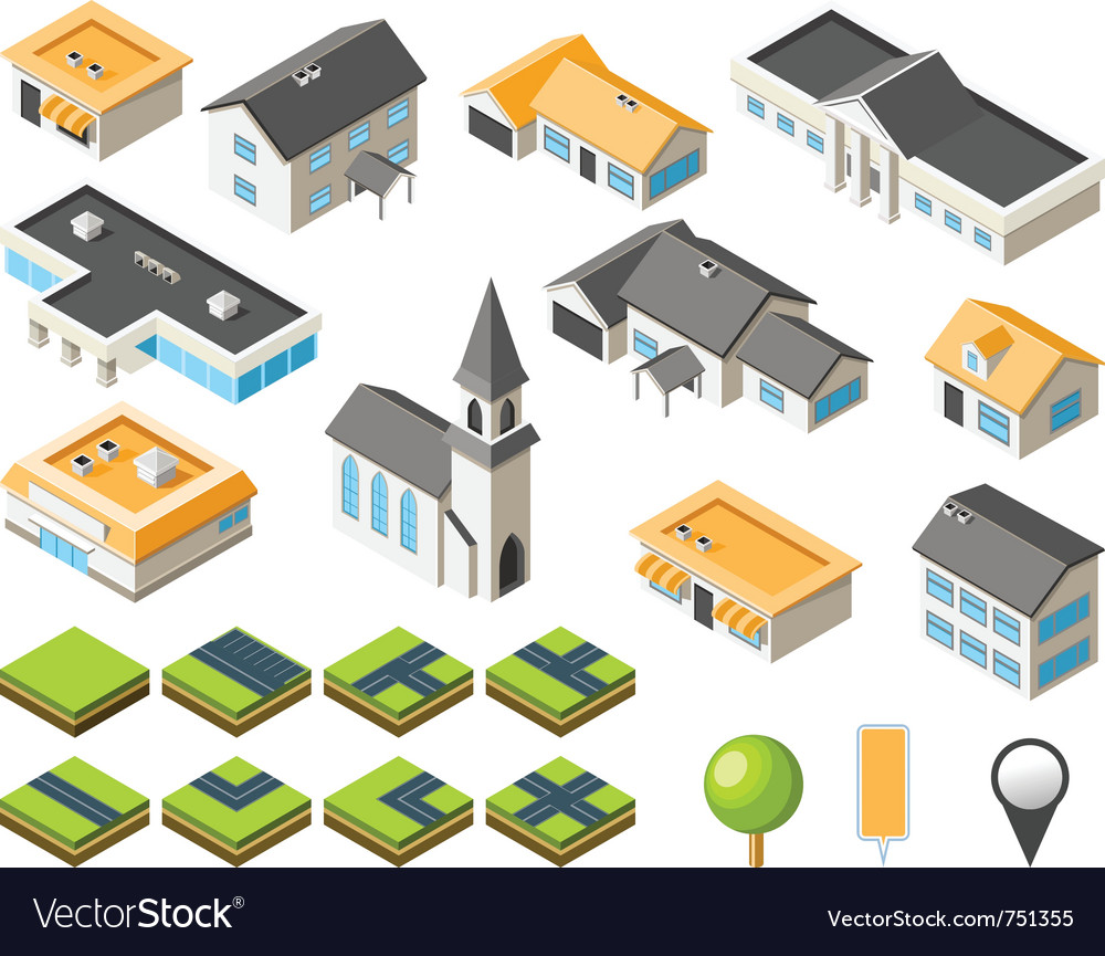 Suburban community vector image