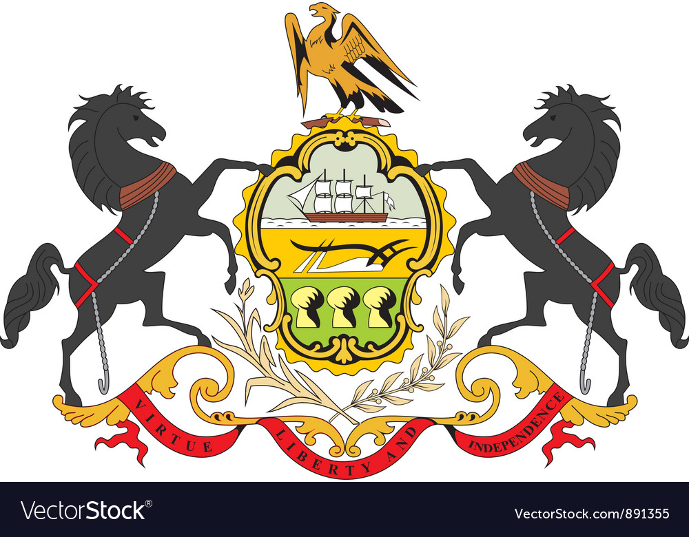 Pennsylvania coat-of-arms Vector Image