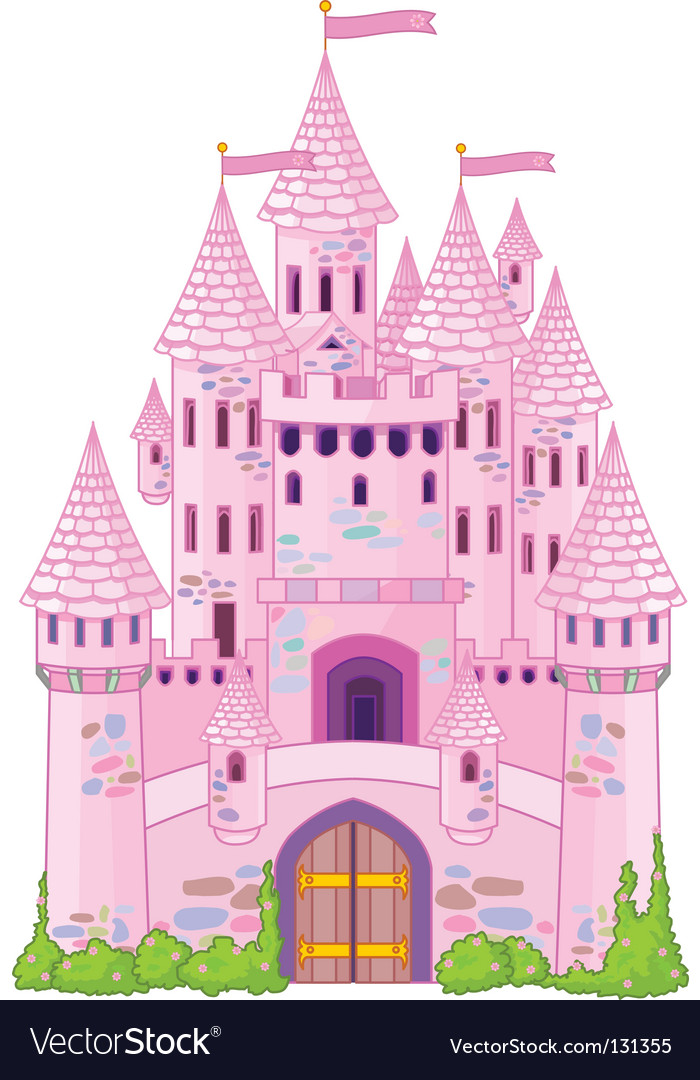 Magic castle vector image