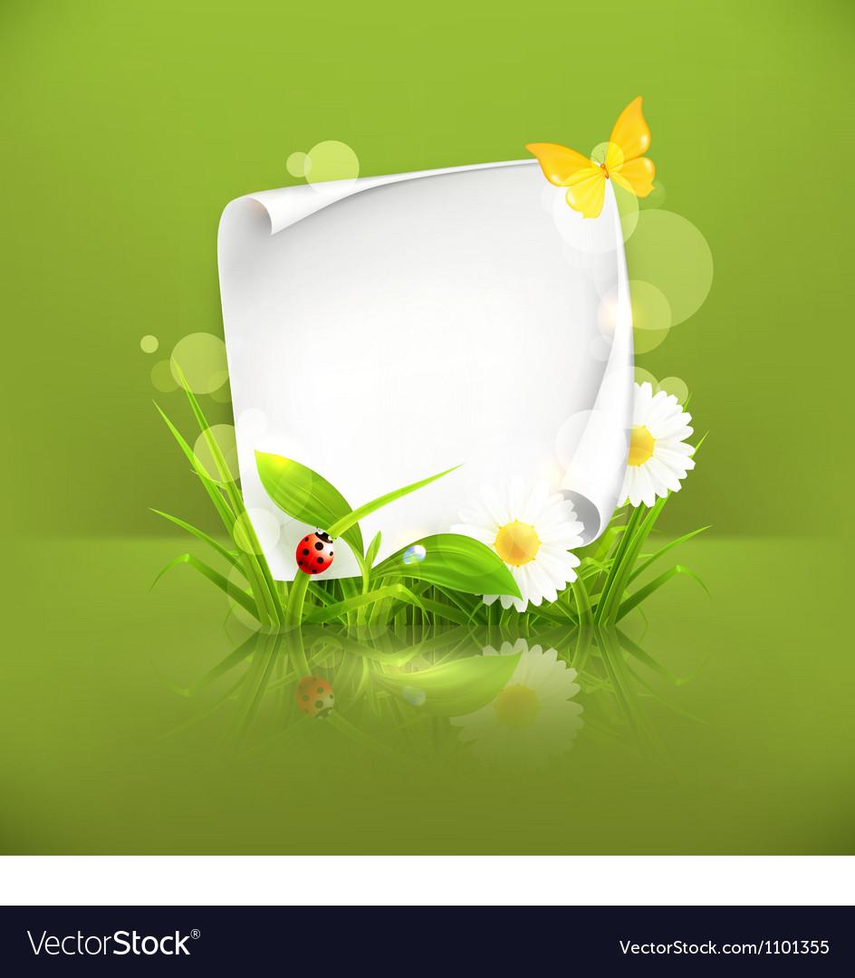 Spring frame green vector image