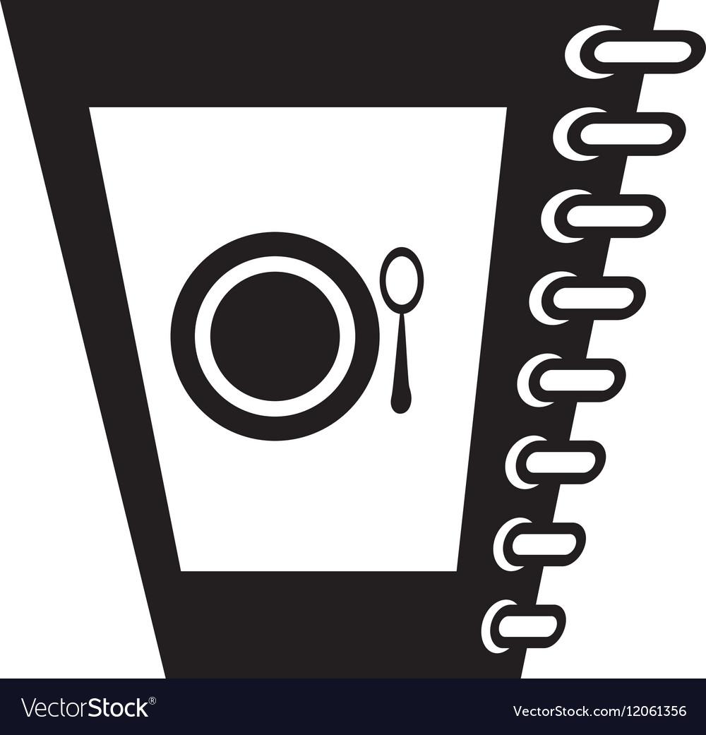 Food restaurant menu spiral notepad outline vector image