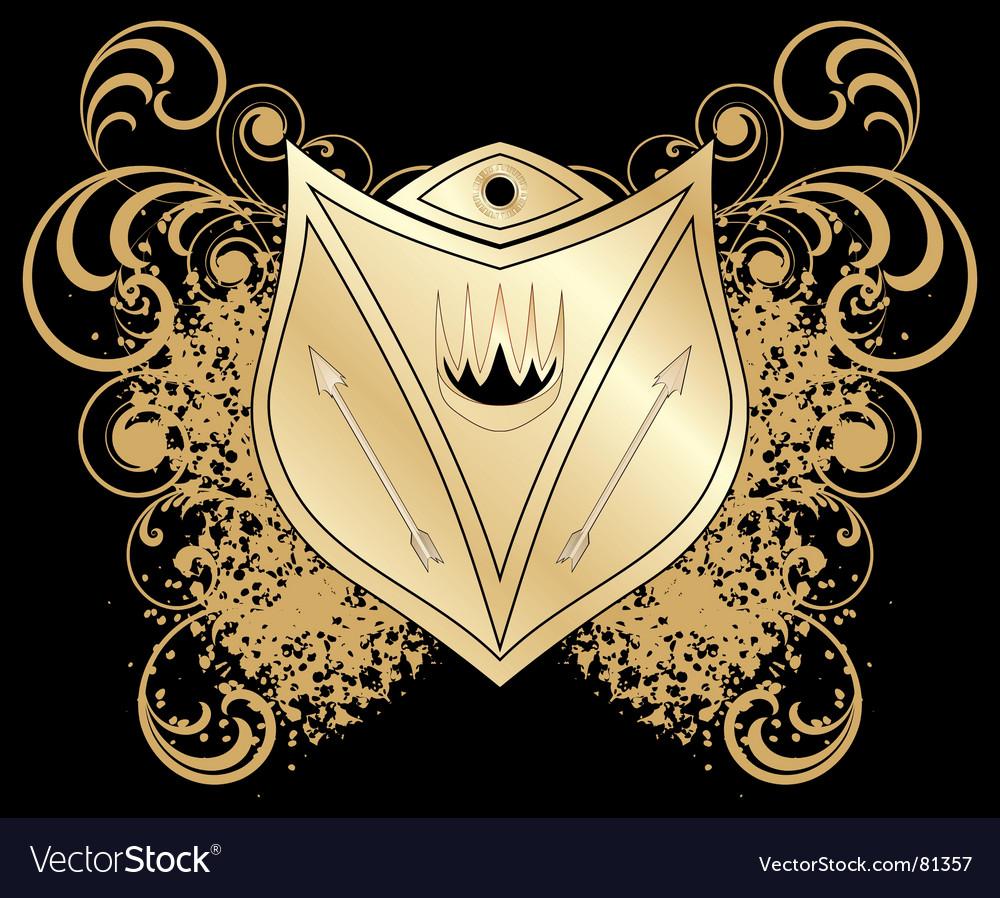 Heraldic blazon Vector Image