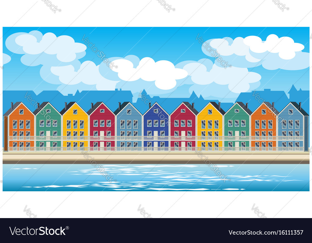 Colorful houses vector image