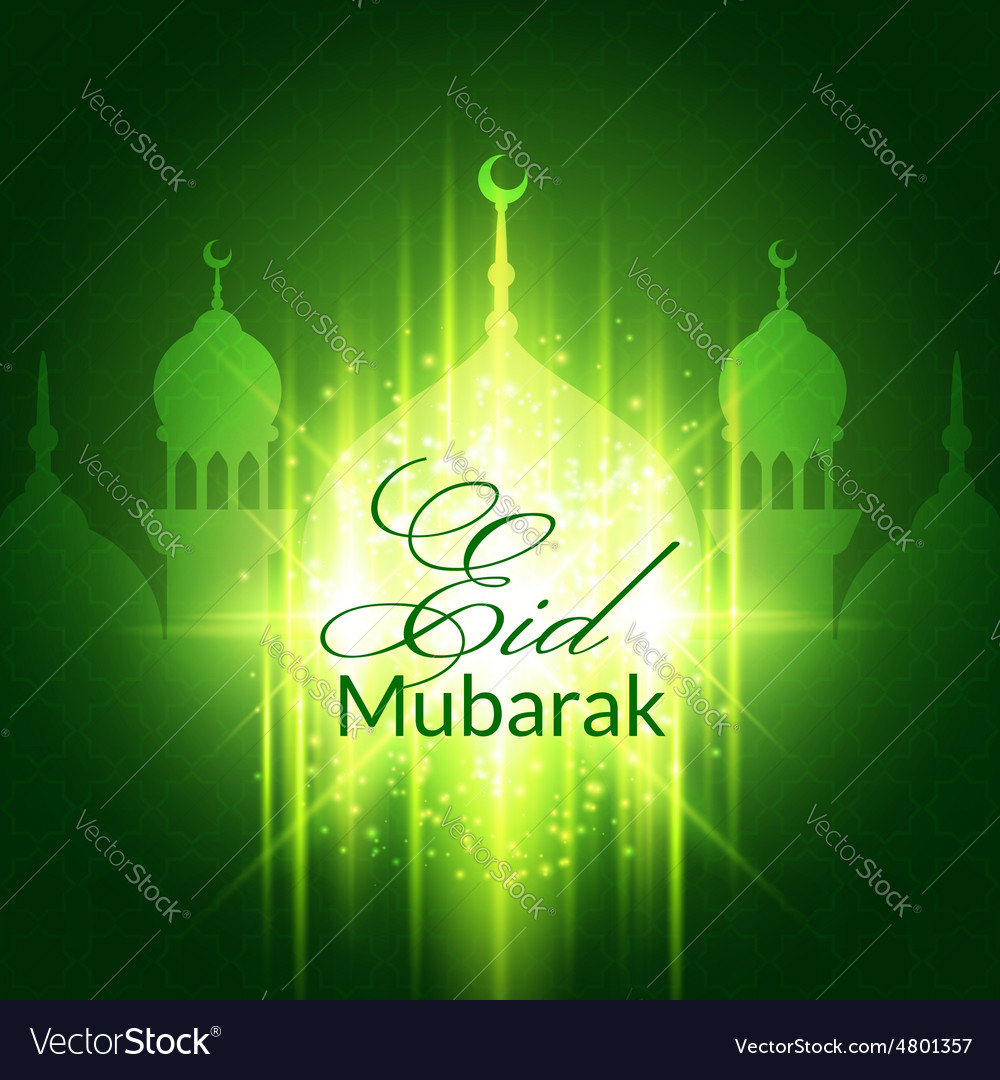 Eid mubarak greeting card with mosque royalty free vector eid mubarak greeting card with mosque vector image kristyandbryce Choice Image