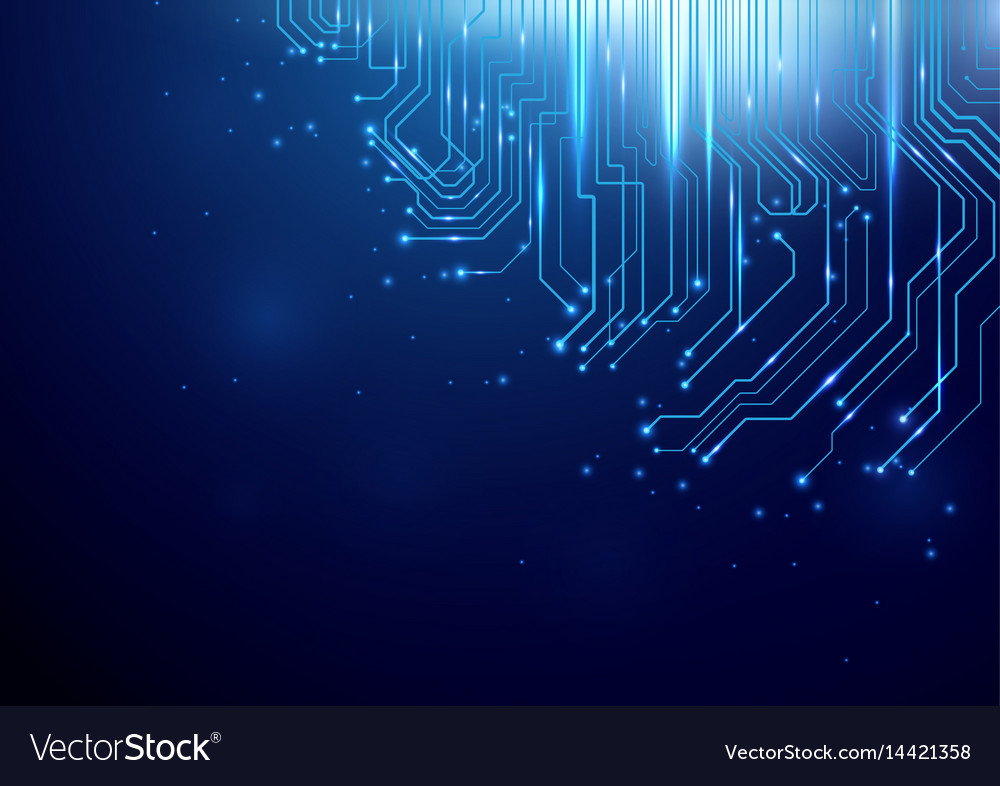 Abstract lines circuit light technology background vector image