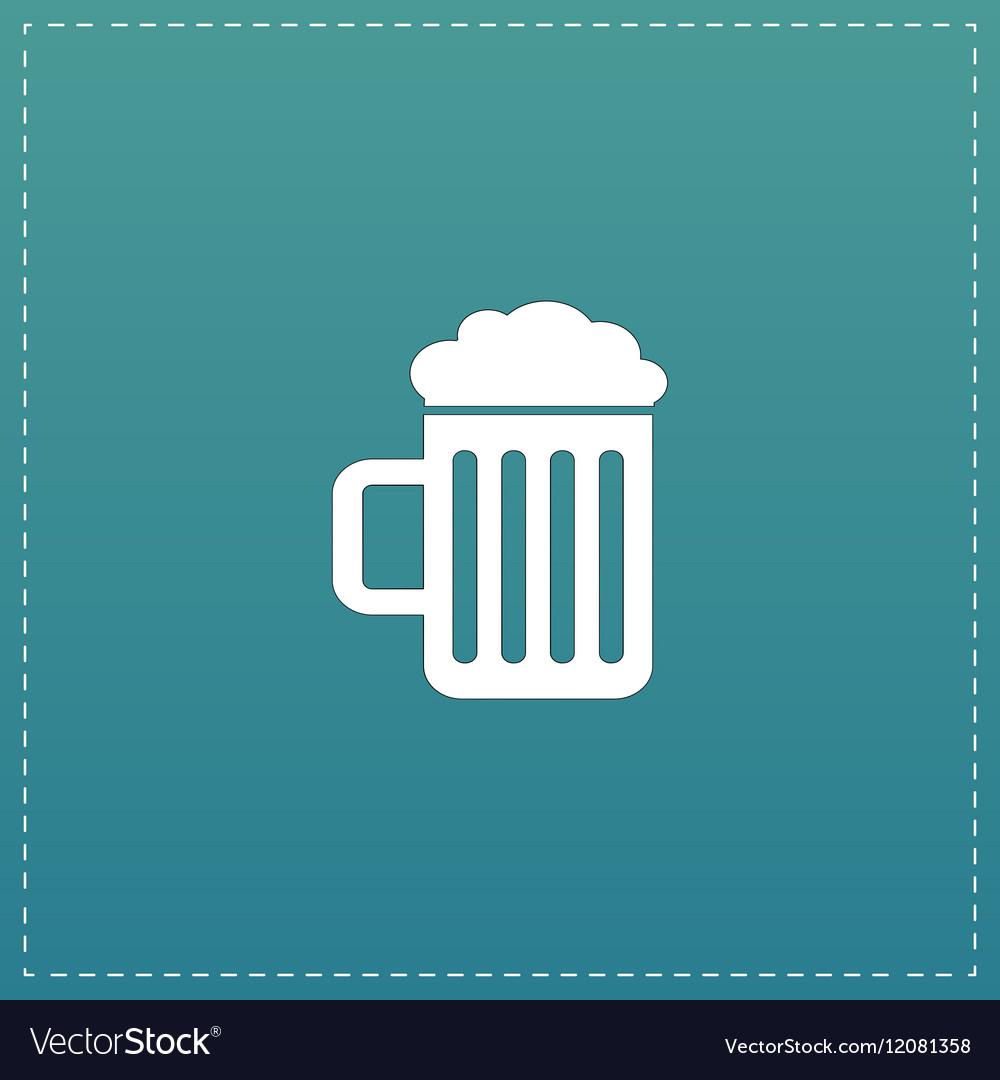 Beer mug flat icon vector image