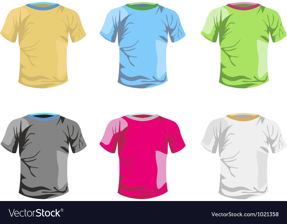Color T-shirt template Royalty Free Vector Image