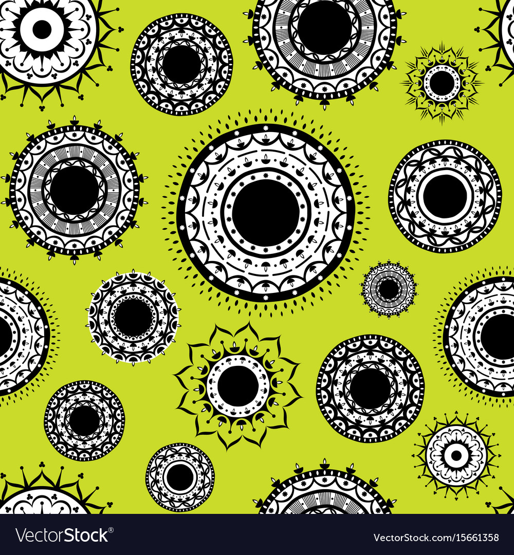 Indian decorative design pattern vector image