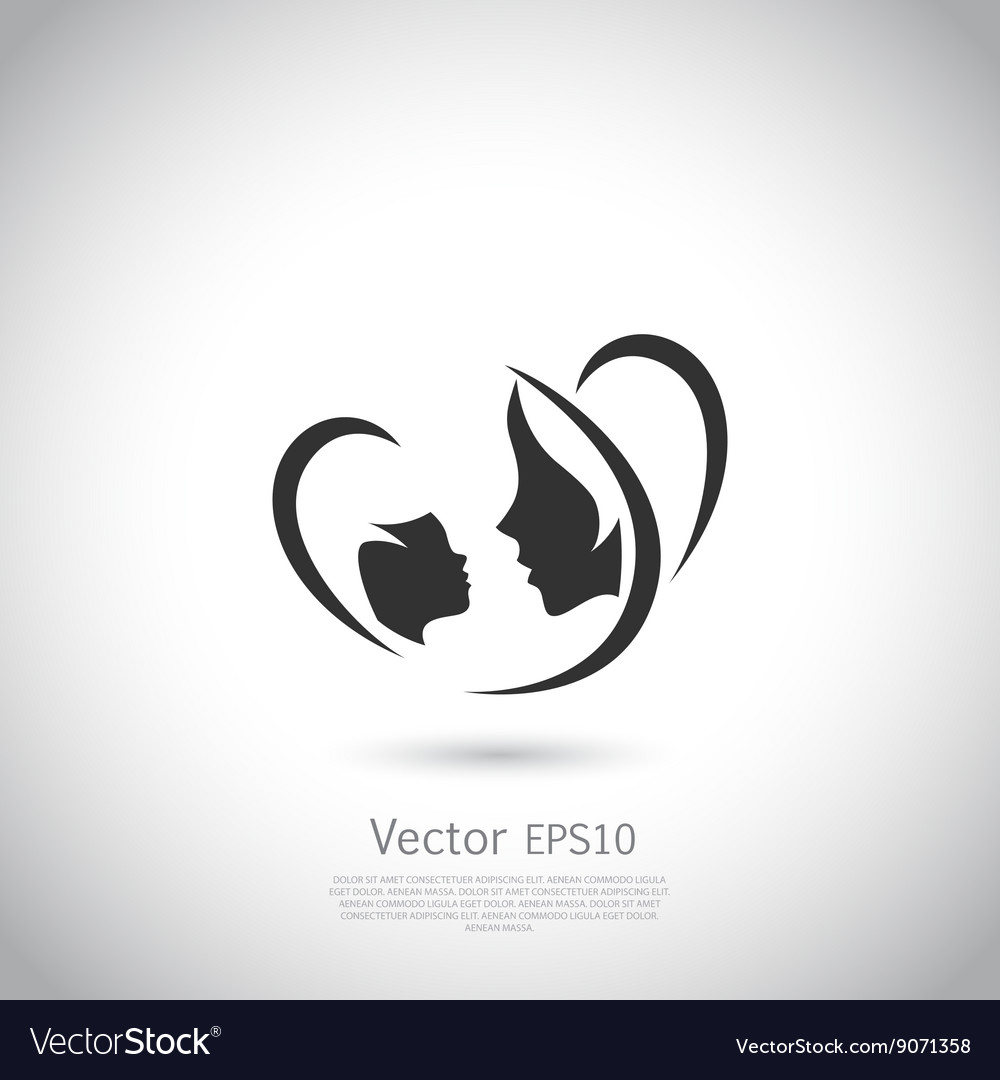 Logo mother and her baby vector image