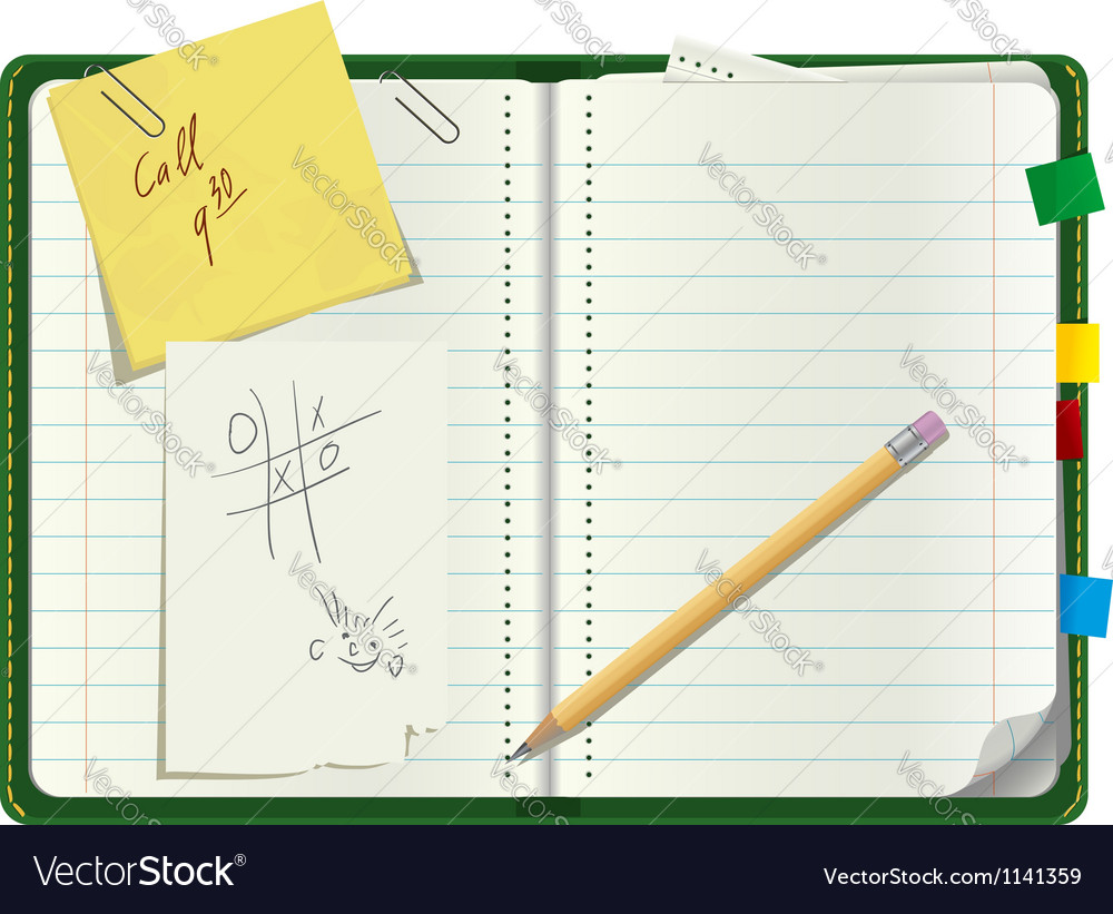 Personal paper organizer vector image
