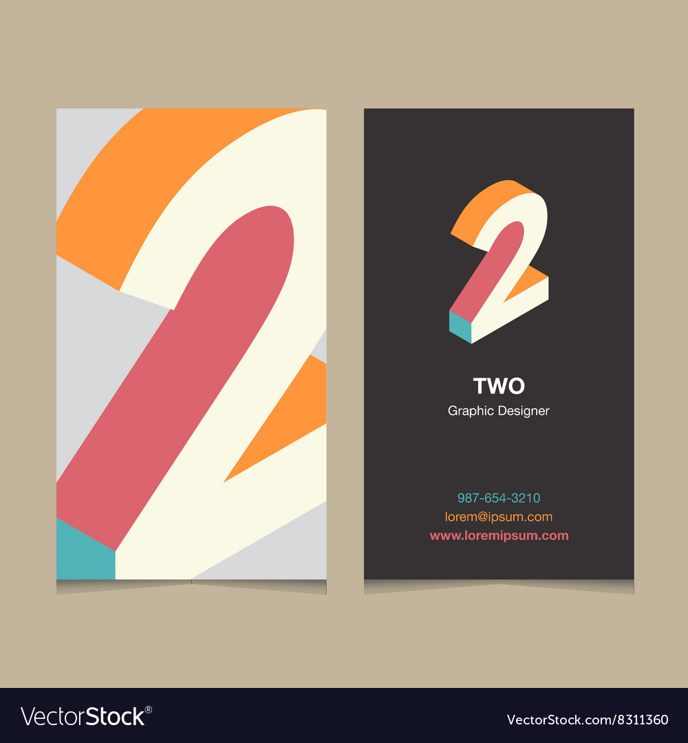 Business card number 2 vector image