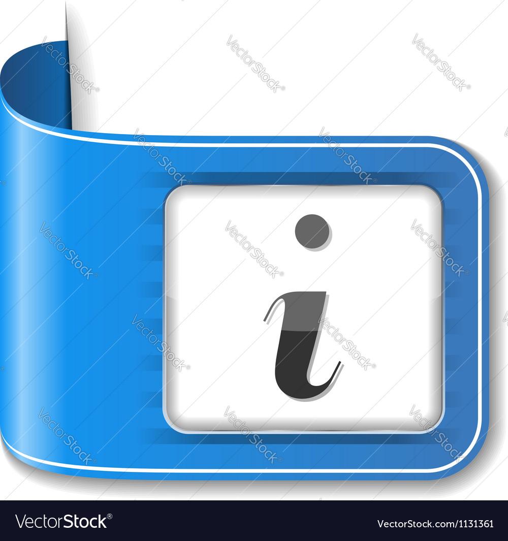 Information Icon vector image