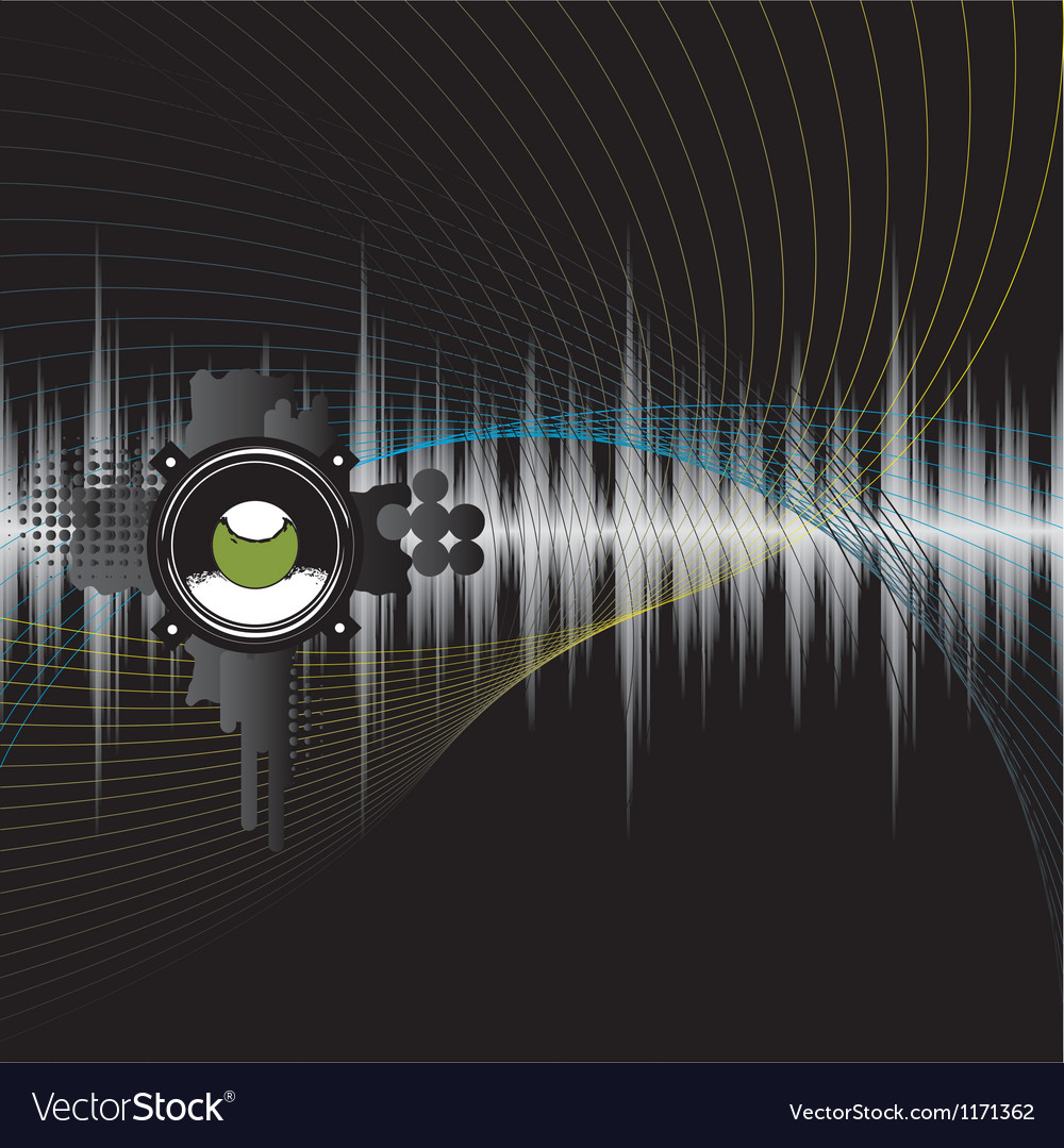 Abstract Grunge Music Background vector image