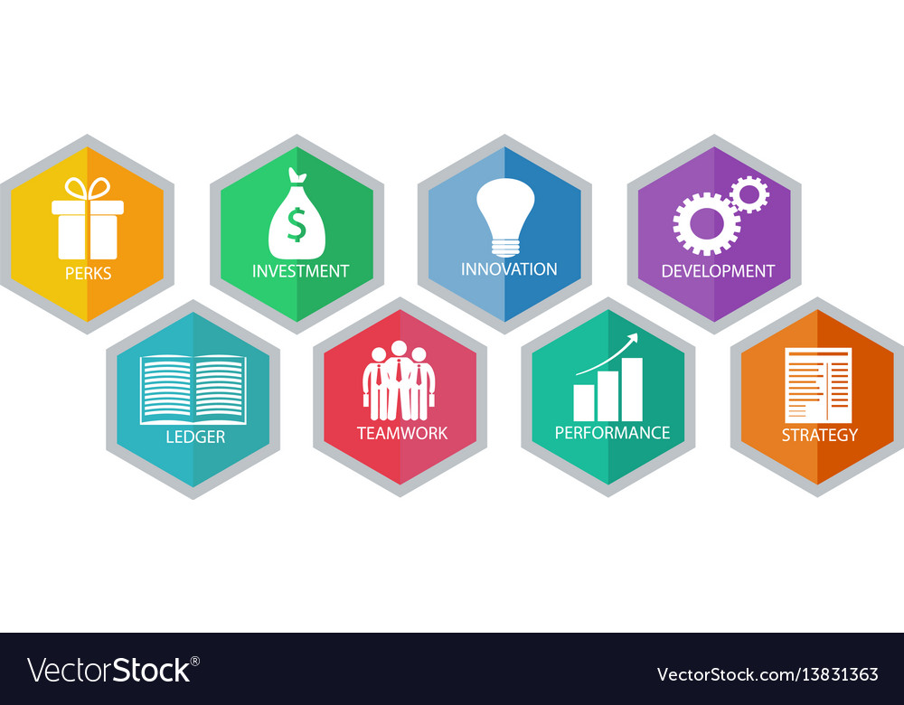 Business modern idea vector image