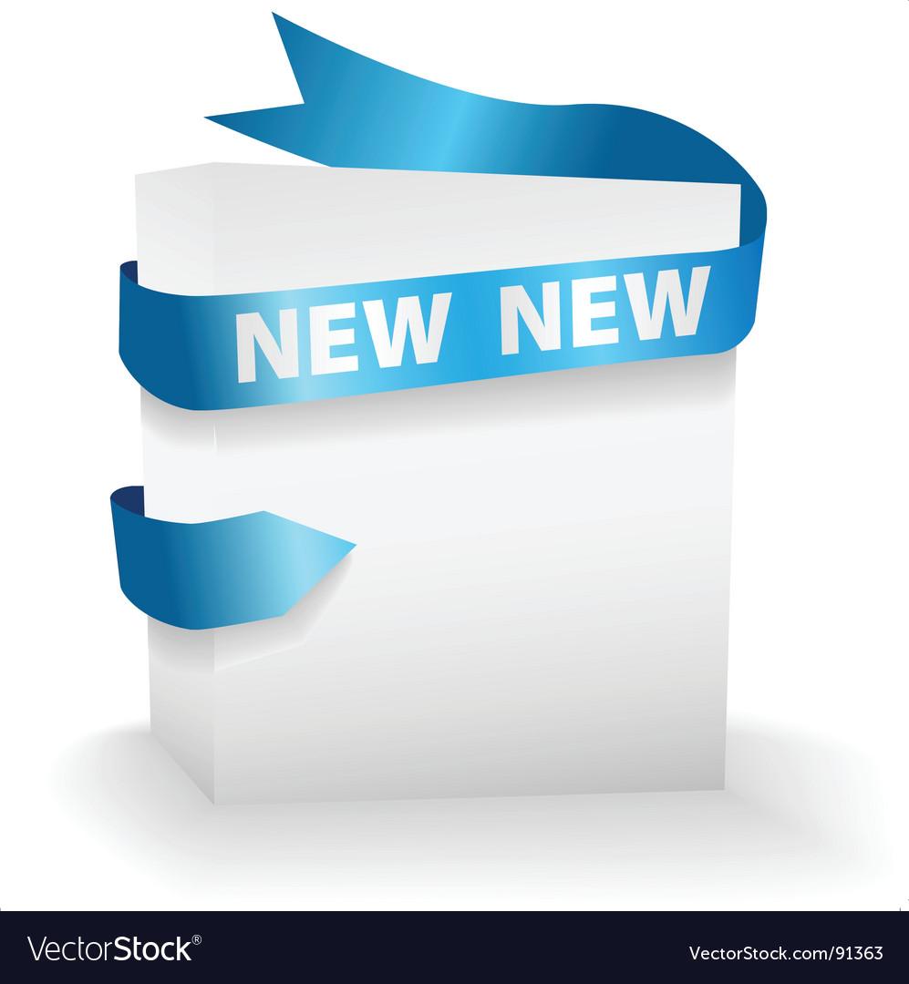 Ribbon NEW text vector image
