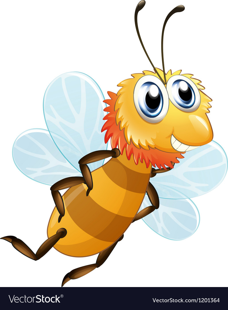 A bee smiling vector image