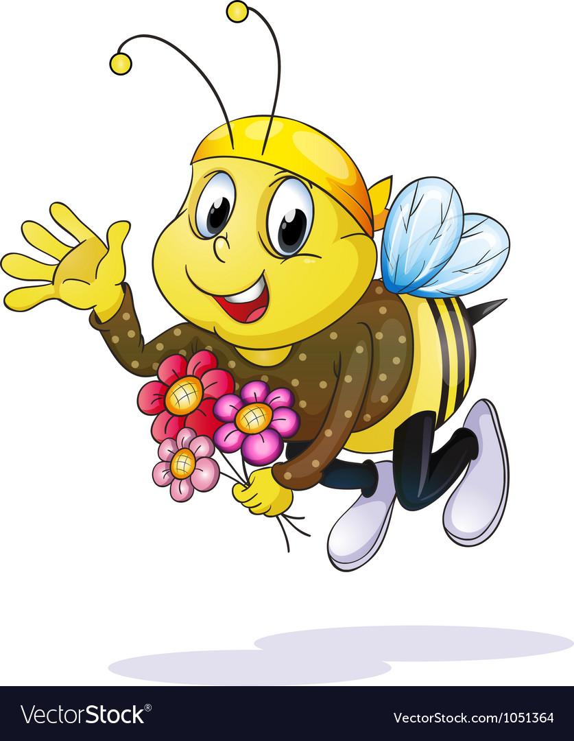 honey bee royalty free vector image vectorstock