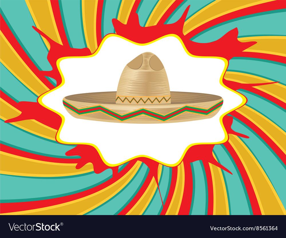 Mexican Hat Sombrero2 vector image