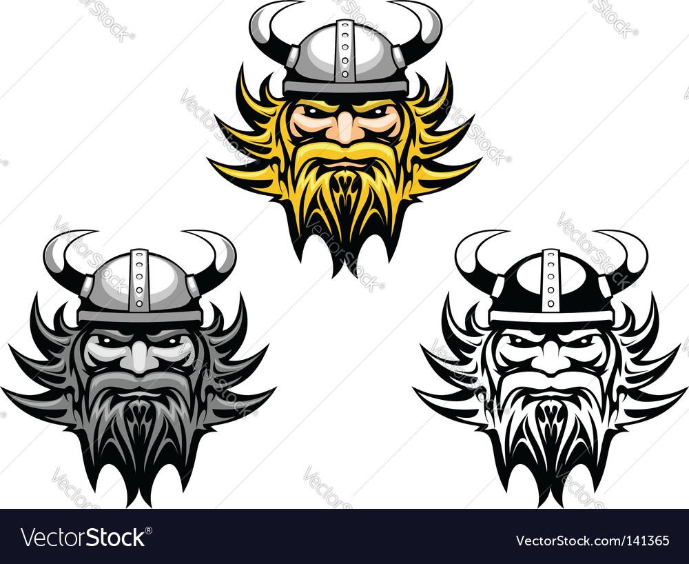 Ancient viking vector image