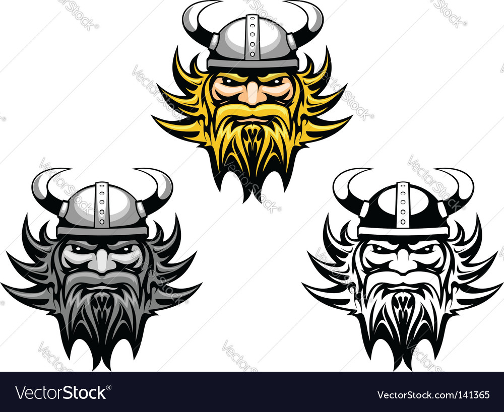 Ancient viking vector image