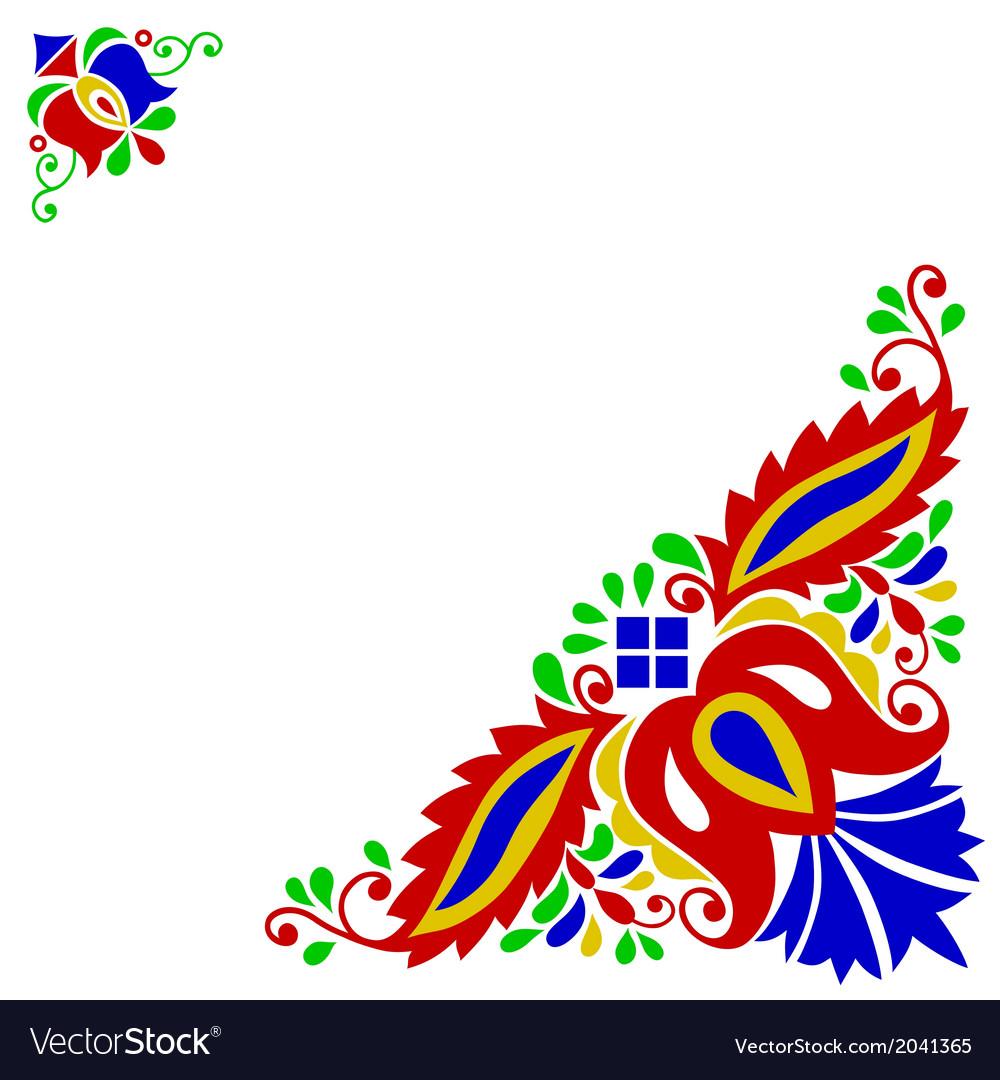 Moravian folk ornament vector image