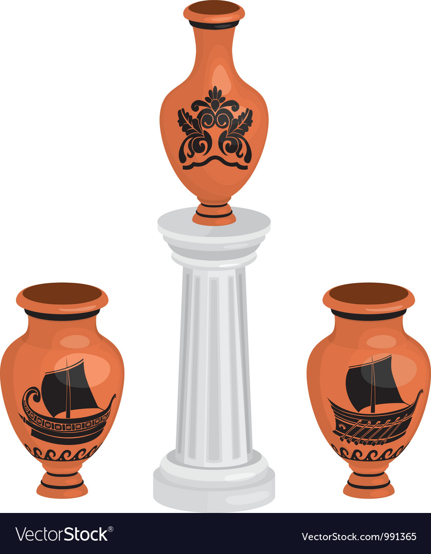 Vases set vector image