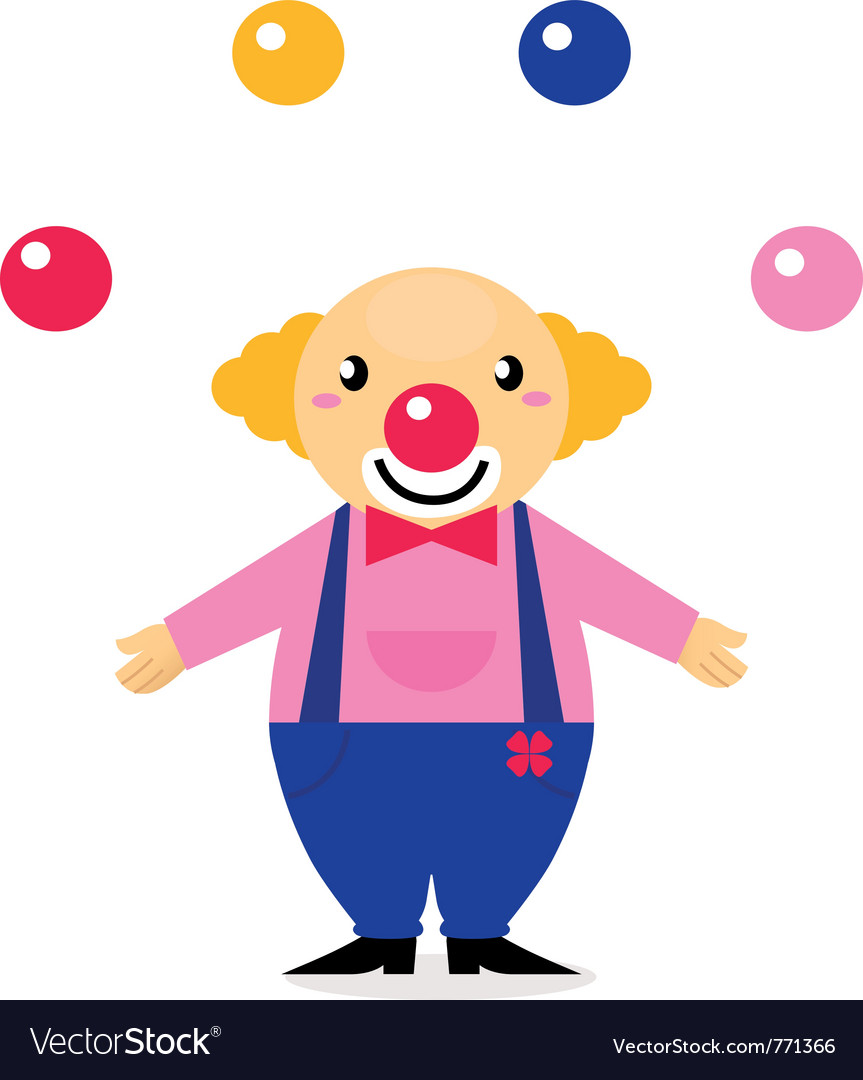 Juggling circus clowns vector image